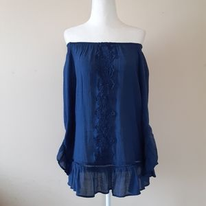 Counterparts Offshoulders Boho Peasant Tunic Sz Sm